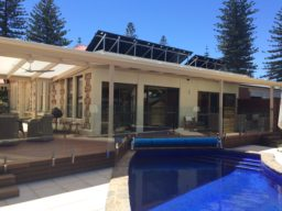 Timber Deck with Glass Balustrade - Ideal Pergolas and Decks