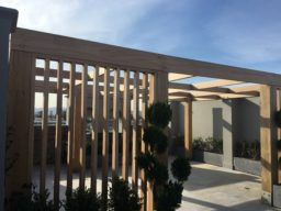 Timber Pergola Rooftop - Ideal Pergolas and decks