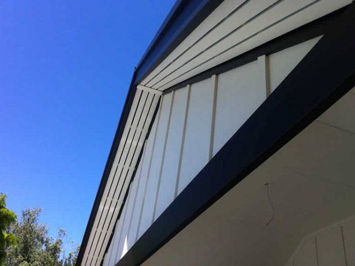 Gable detail of a home's timber verandah